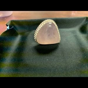 Jewelry - Sterling Silver Rose Quartz Ring -size 9